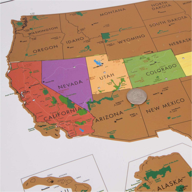 Travel Tracker Map USA National Parks Landmass Goods