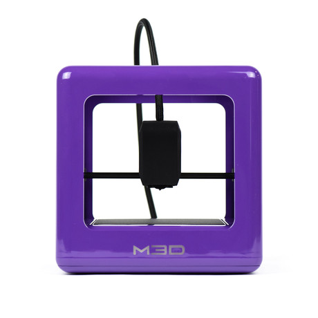 The Micro 3D Printer // Purple + PLA Bundle (Neutral Bundle)