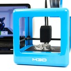 The Micro 3D Printer // Blue + PLA Bundle (Neutral Bundle)