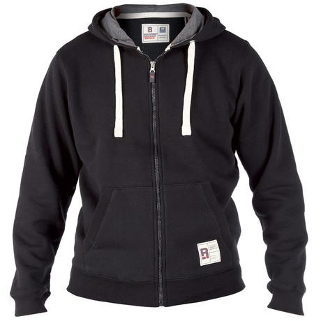 Stacker Hooded Sweatshirt // Black
