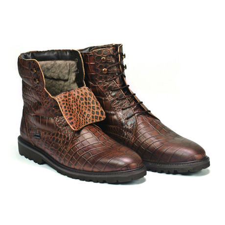 Jarrod Crocodile Boot // Brown