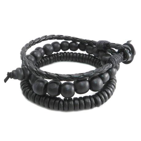 Bead + Cord Bracelet // Set of 3