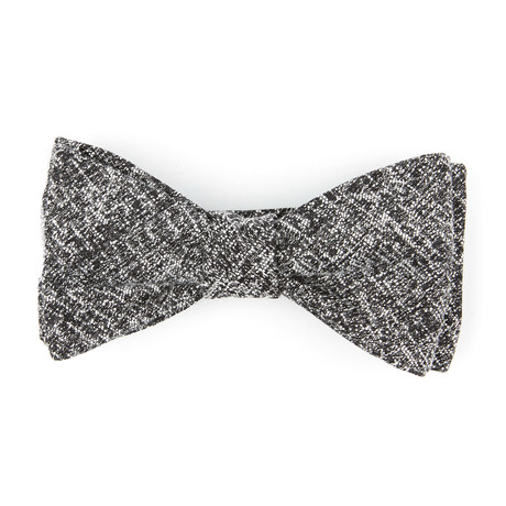 Heather Self Tie Bow Tie // Black + White