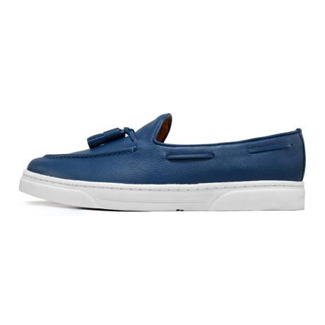 Royal Tassel Sneaker // Blue