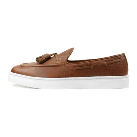 Canela Tassel Sneaker // Brown