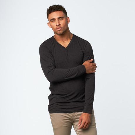 Premium Long-Sleeve V-Neck // Charcoal