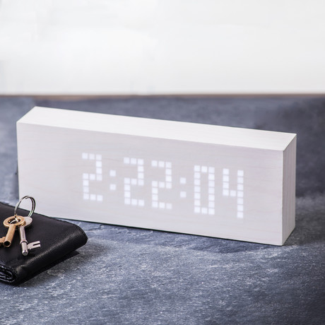 uMessage Click Clock // White