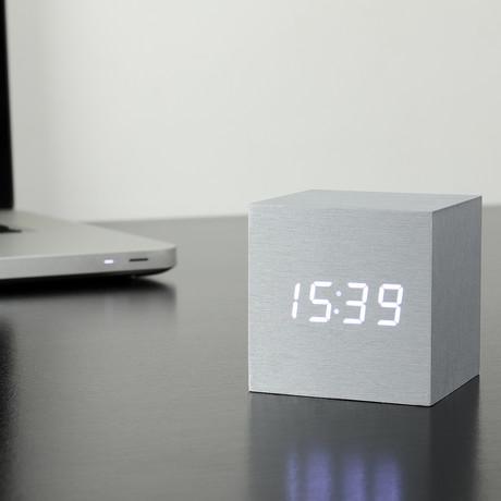 Cube Click Clock // Aluminum