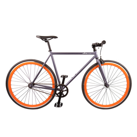 Single Speed // Version 3 // Matte Grey + Orange