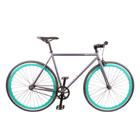 Single Speed // Version 3 // Matte Grey + Aqua
