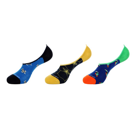 No-Show Socks // At the Zoo // Pack of 3
