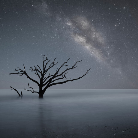 "Milky Way As Seen From Botany Bay (18""W x 18""H x 0.75""D)"