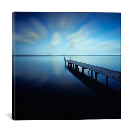 """Muelle Azul Crop // Moises Levy Canvas Print (18""""W x 18""""H x 0.75""""D)"""