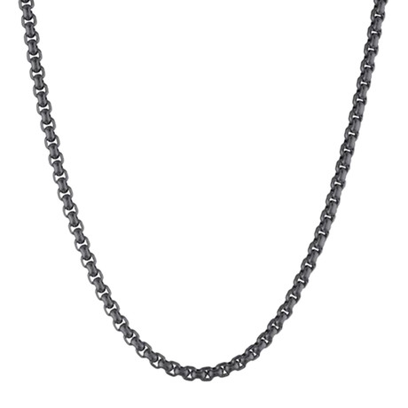 Stainless Steel Round Box Chain // 18""