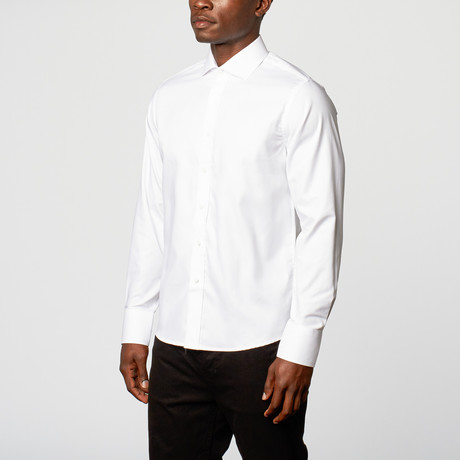 The Grind Button-Down Shirt // White (XS)