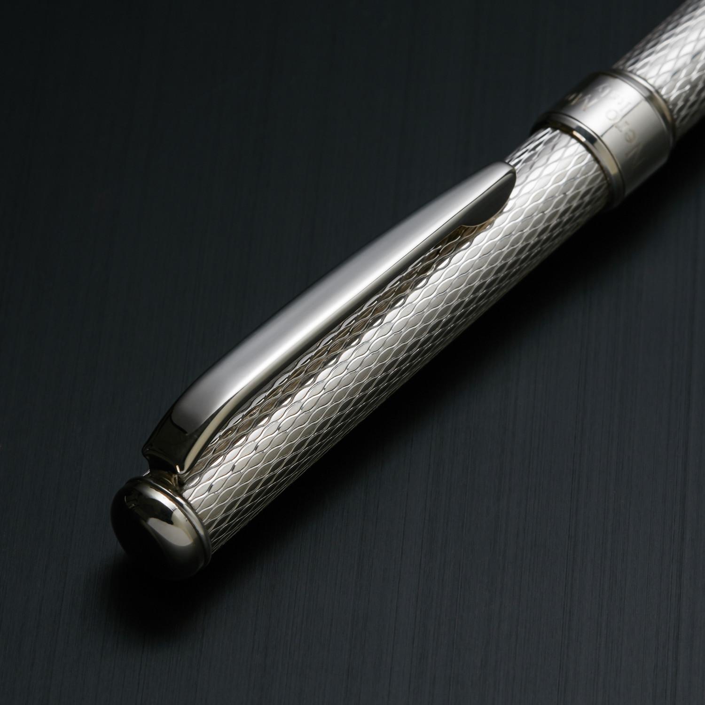 Grifos Italian Fountain Pen Silver & Black Lacquer GLF810-NK-G04-LN