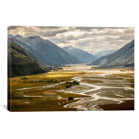 "Hunter Valley, Wanaka, Otago Region, South Island, New Zeala // Alex Buisse Canvas Print (26""W x 18""H x 0.75""D)"