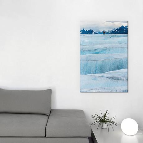 """Crossing Tyndall Glacier (18""""W x 26""""H x 0.75""""D)"""