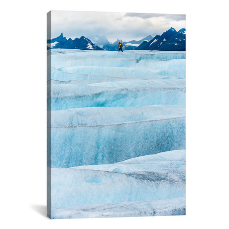 "Crossing Tyndall Glacier, Patagonian Ice Cap // Alex Buisse Canvas Print (18""W x 26""H x 0.75""D)"