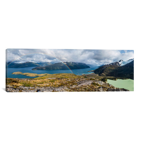 "Caleta Olla, Beagle Channel, Tierra del Fuego Archipelago, S // Alex Buisse Canvas Print (36""W x 12""H x 0.75""D)"