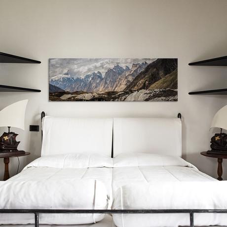 "Baltoro Glacier, Karakoram Mountain Range, Gilgit-Baltistan Region, Pakistan // Alex Buisse (36""W x 12""H x 0.75""D)"