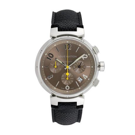 Louis Vuitton Tambour Chronograph Automatic // Q1122 // 808-TM910023 // c.2000's // Pre-Owned