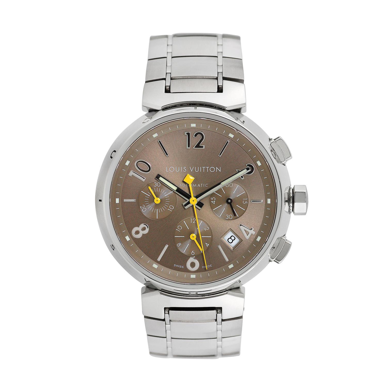 Louis Vuitton Tambour Chronograph Automatic // Q1122 // c ...