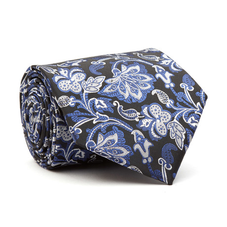 Hand Made Tie // White + Blue Floral