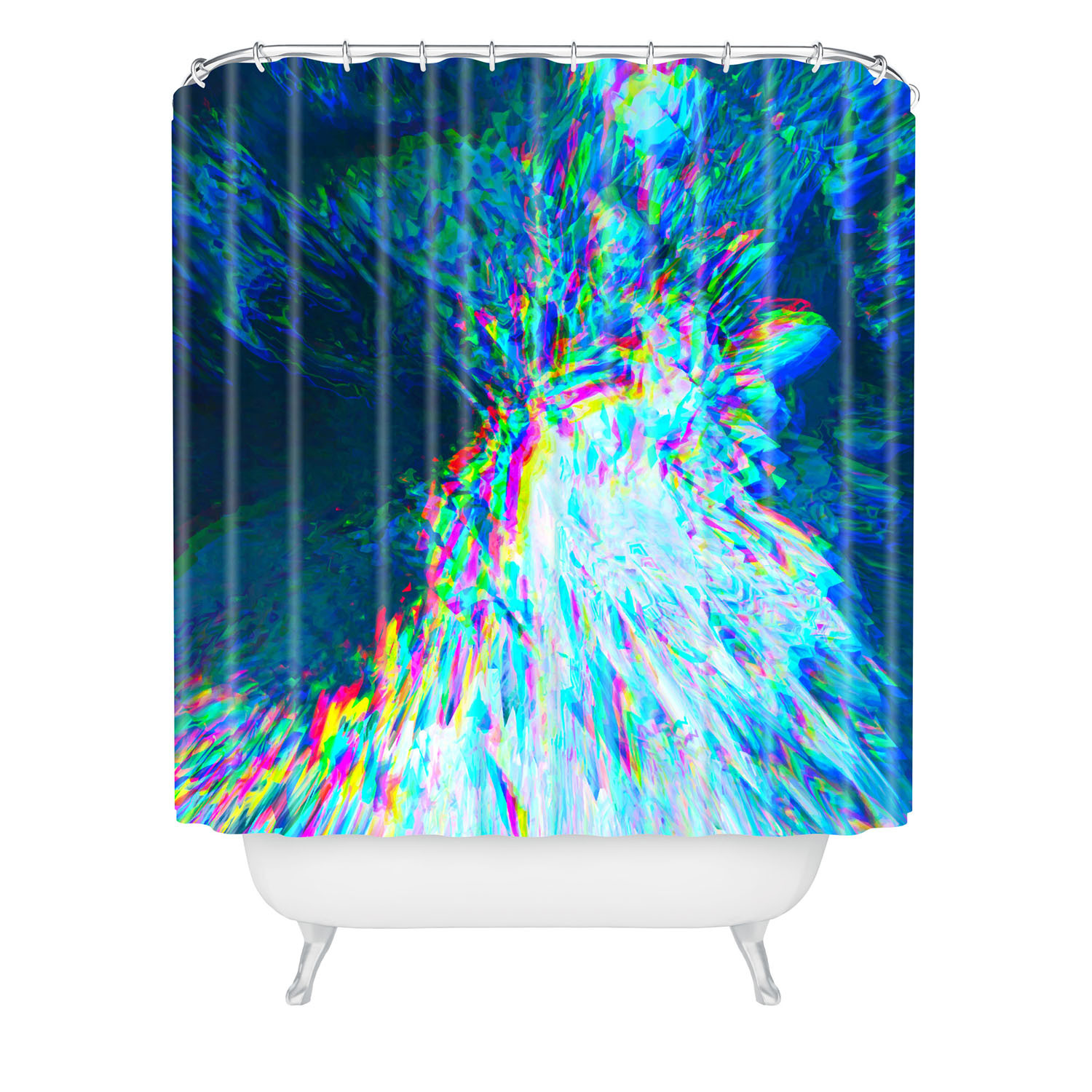 LCD River Shower Curtain