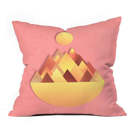 Hot Peaks Alternative // Throw Pillow