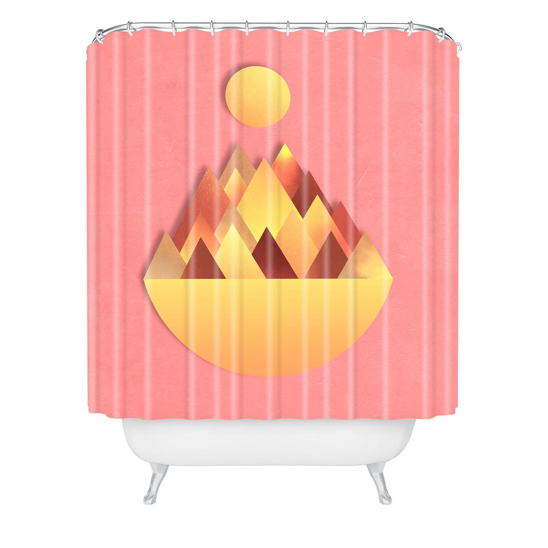 Hot Peaks Alternative Shower Curtain Adam Priester For Deny Design Touch Of Modern