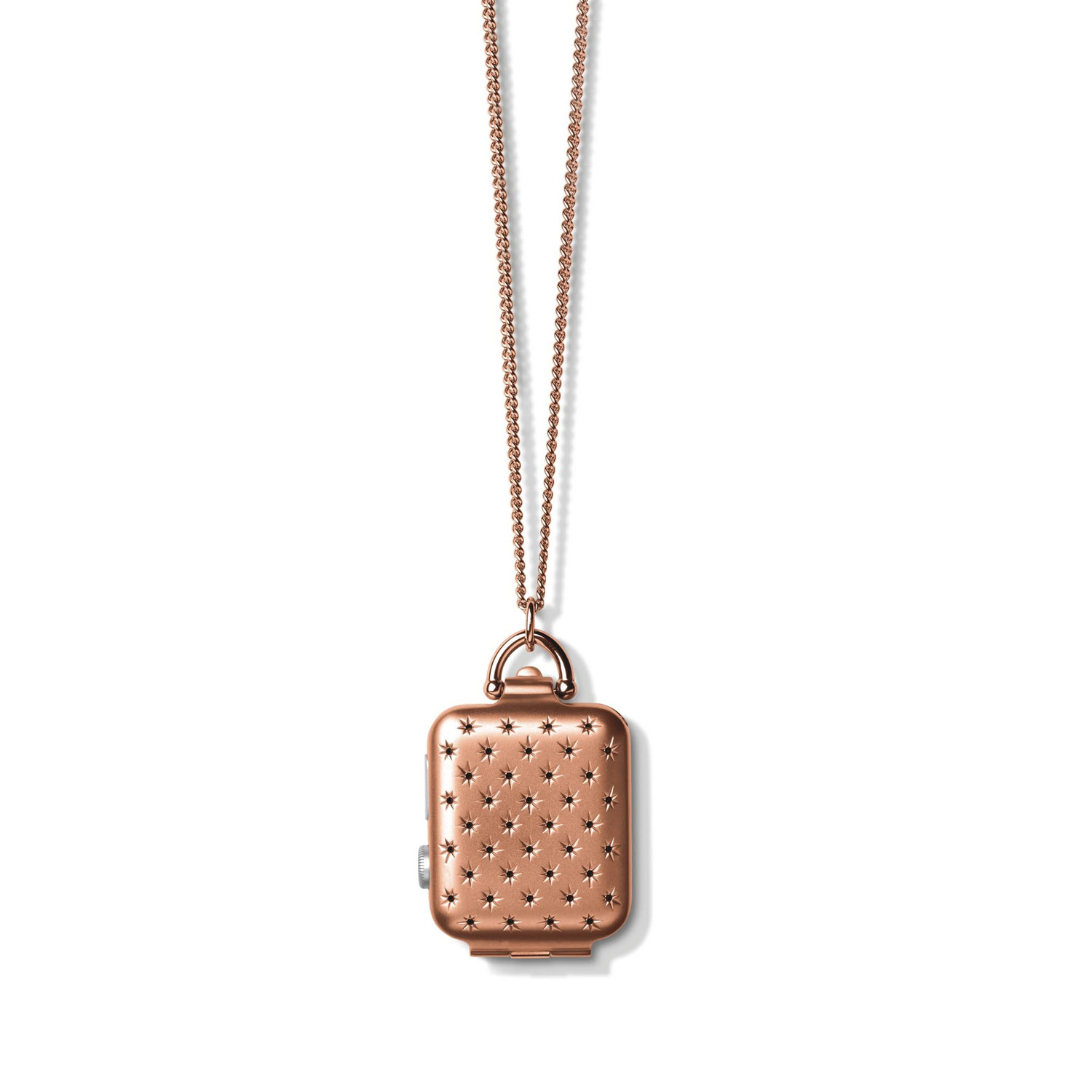 Apple Watch // Constellation Locket Necklace // Rose Gold ...