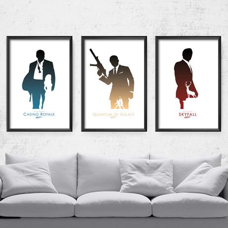 """007 Daniel Craig Series (11""""W x 14""""H)"""