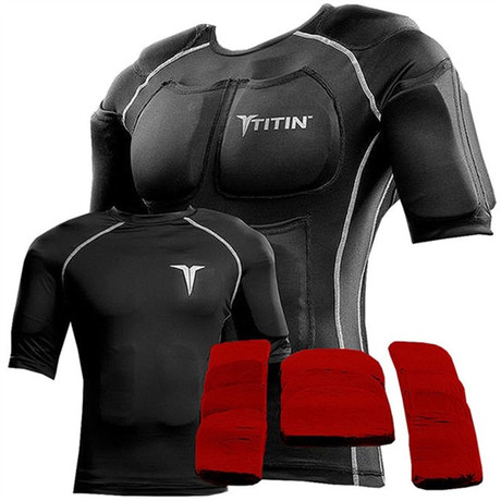 Titin Force 20 lb Shirt System // Midnight Black