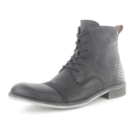 Urban Side Zip Lace-Up Boot // Black (US: 7)