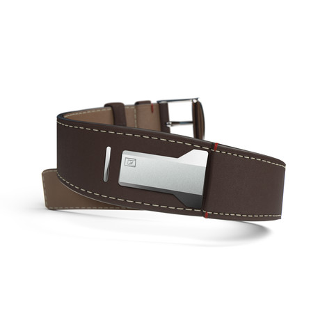 Klokers Quartz // KLINK-01-MC4 // Brown Leather Bracelet Strap