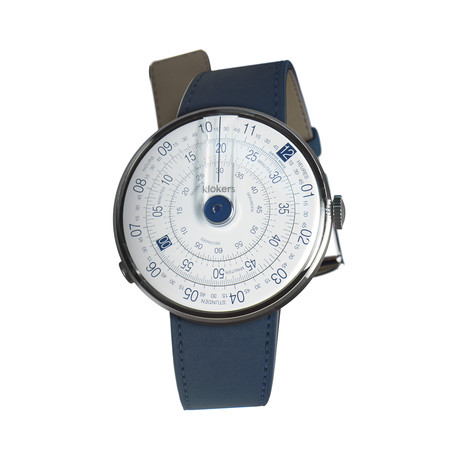 Klokers Quartz // KLOK-01-D4 Blue // Indigo Blue Simple Strap