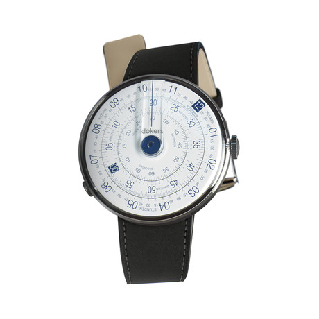 Klokers Quartz // KLOK-01-D4 Blue // Matte Black Simple Strap
