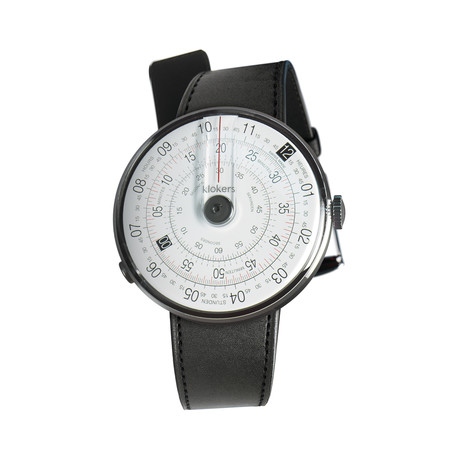 Klokers Quartz // KLOK-01-D2 Gray // Satin Black Simple Strap