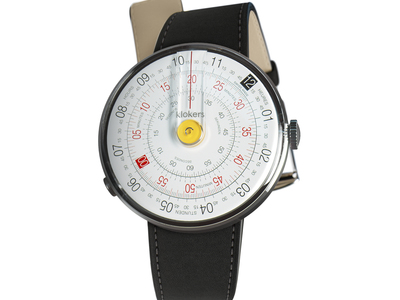 Photo of Klokers Rotating Swiss Watches Klokers Quartz // KLOK-01-D1 Yellow // Matte Black Simple Strap by Touch Of Modern