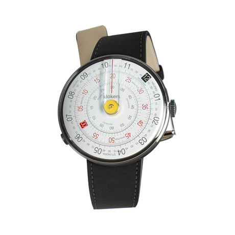 Klokers Quartz // KLOK-01-D1 Yellow // Matte Black Simple Strap