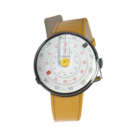 Klokers Quartz // KLOK-01-D1 Yellow // Yellow Simple Strap