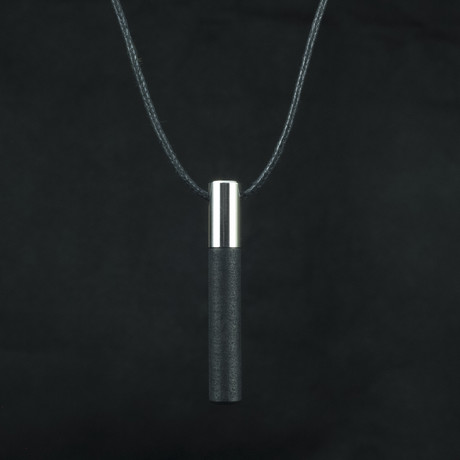 Lockstone One Pendant + Black Stone // Steel