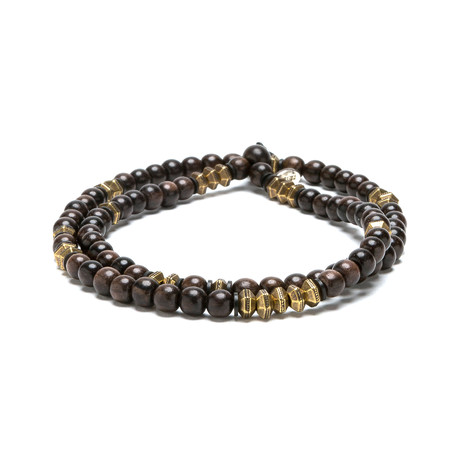 Brown Ebony Wood // Faceted Brass (Small)