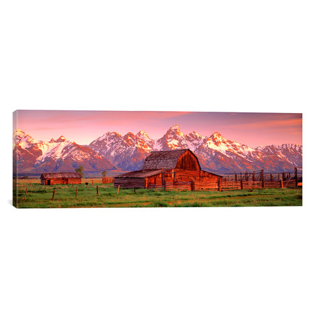 "Barn Grand Teton National Park WY, USA // Panoramic Images (36""W x 12""H x 0.75""D)"