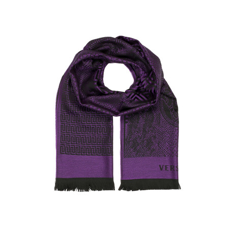 Medusa Scarf // Purple + Black