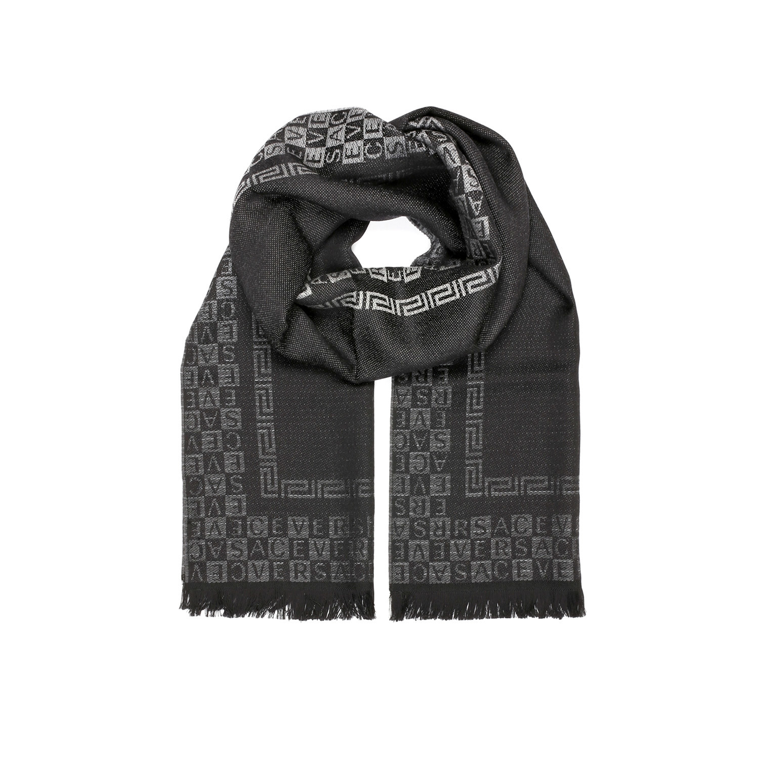 Versace Scarf // Black + Grey - Versace Scarves - Touch of Modern