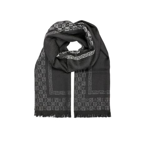 Versace Scarf // Black + Grey