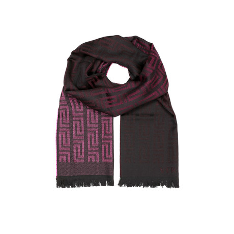 Faded Medusa Scarf // Wine + Black
