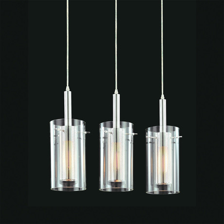 Zylinder 3 Light Rectangle Pendant
